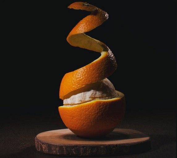 obranie pomarańczy