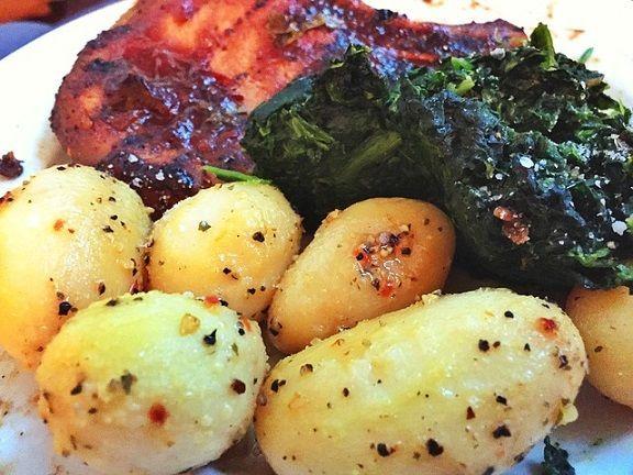 ziemniaki i szpinak