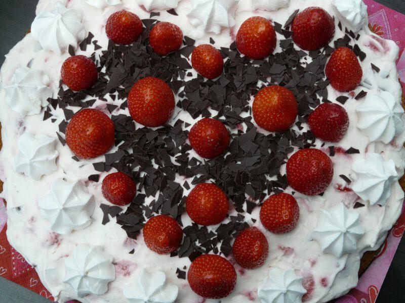 Walentynkowy tort