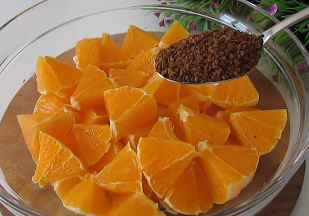 pomarańcze z kawą