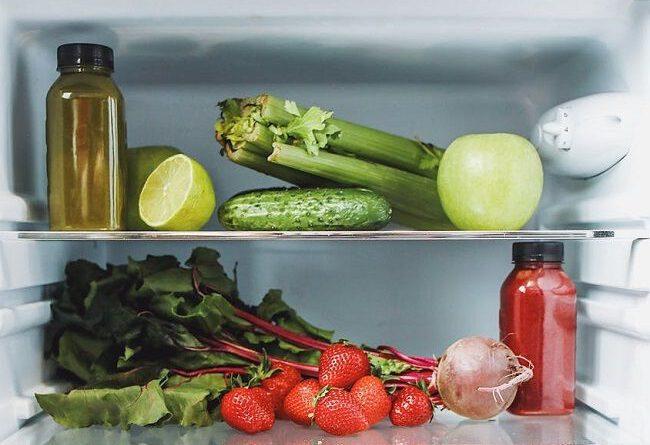 lodówka owoce warzywa