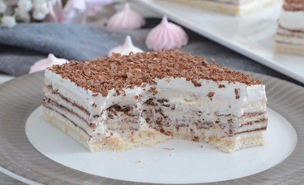 ekspresowe ciasto stracciatella bez pieczenia