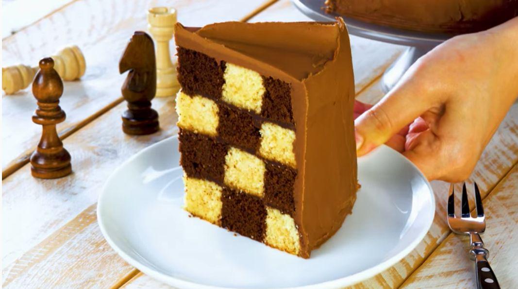 ciasto szachownica